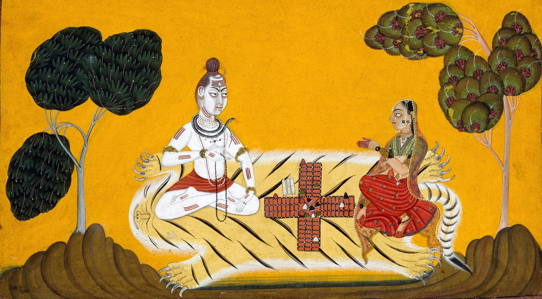 Shiva and Parvati Playing Chaupar